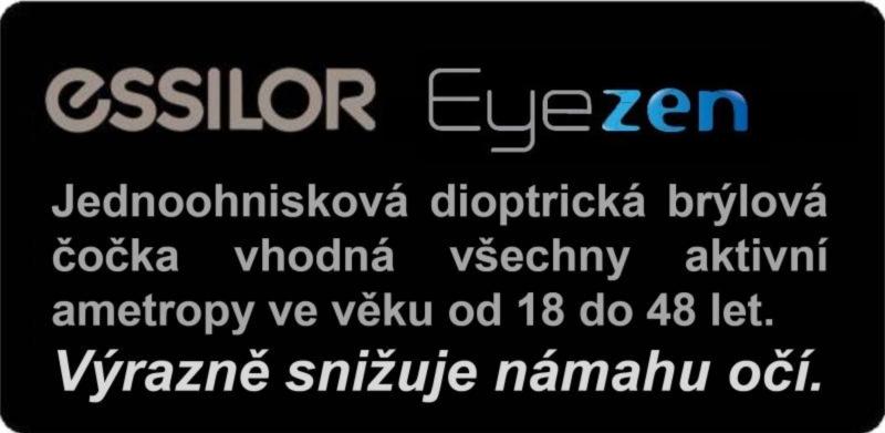 ad3ed3708 Brýlové dioptrické čočky Essilor Eyezen eyecode a Essilor Eyezen eliminují  námahu očí při dívání na blízko (čtení, klávesnice PC .